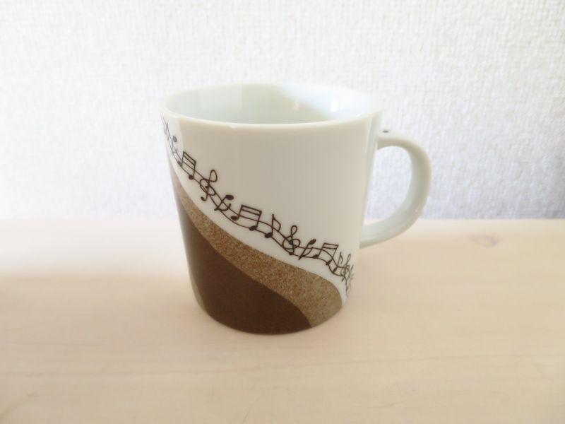画像1: 流れる音符のマグ(コーヒー)