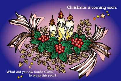 画像1: 聖しこの夜、プレゼントを期待する